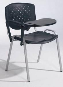 Cadeira Prisma, assento e costa em PP, estrutura pintada a preto ou cinza 7035.