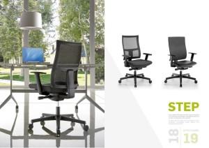 STEP - Cadeiras de Escritório Operativa Estofada