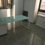 Secretária vidro branco 589