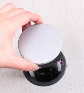 Smart line 3 schuko + 2 usb pop up socket 60mm Tampa aberta do Steckdoseleiste 3 schuko