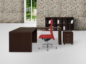 Taxus Secretária totalmente em melamina | Mobiliário de Escritório