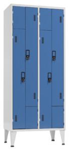 Vestiário Cacifos Metálico Duplo 4 Cacifos Portas em L com 1900x800x500mm
