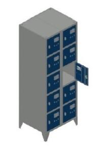 Vestiário duplo 10 cacifos 1900x600x500mm