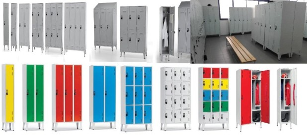 Metal cabinets locker rooms with lockers
