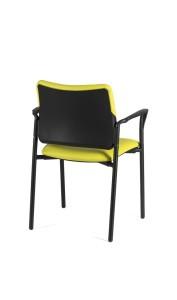 Cadeira Atena, costa e assento com estofo opção de braços BAT.200