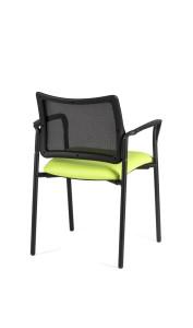 Cadeira Atena, costa em rede, assento com estofo, opção de par de braços BAT.250