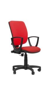 Cadeira Aviator, costa alta, mecanismo sincronizado com possibilidade de bloqueio em cinco posições e regulação da costa em altura BAV.500