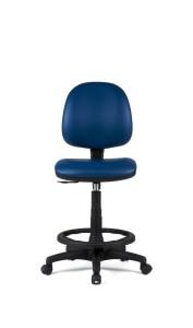 Cadeira Buga, costa baixa, mecanismo de contacto permanente, amortecedor alto com apoio de pés em nylon BBU.300