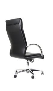 Cadeira Crown, costa alta, mecanismo basculante com três posições de bloqueio, base alumínio.