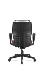 Cadeira Dama costa média mecanismo sincronizado com possibilidade de bloqueio em 5 posições, costa regulável em altura,