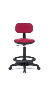 Cadeira Big Eco, assento e costa com estofo, contacto fixo, sistema de elevação simples, apoio de pés em nylon, Opção: Apoio de pés cromado (+€) BEC.300