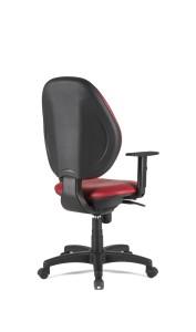 Cadeira Frank, costa alta, mecanismo sincronizado com possibilidade de bloqueio em cinco posições, com regulação da costa em altura BFR.500