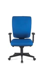 Cadeira Goblin, costa alta, mecanismo sincronizado com possibilidade de bloqueio em cinco posições, com regulação da costa em altura BGO.500