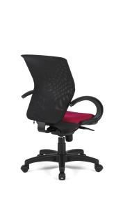 Cadeira Guma, costa em rede preta, assento com estofo, mecanismo sincronizado com possibilidade de bloqueio em cinco posições BGN.500