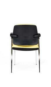 Cadeira Juno, costa e assento com estofo, estrutura cromada, Braços incluídos BJU.200