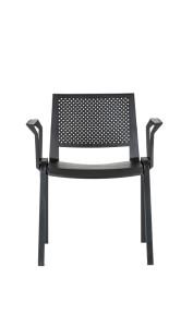 Cadeira Kentra, costa e assento em polipropileno preto