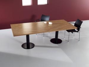 Mesa reuniao retangular 2400x1100x750mm madeira zeberano