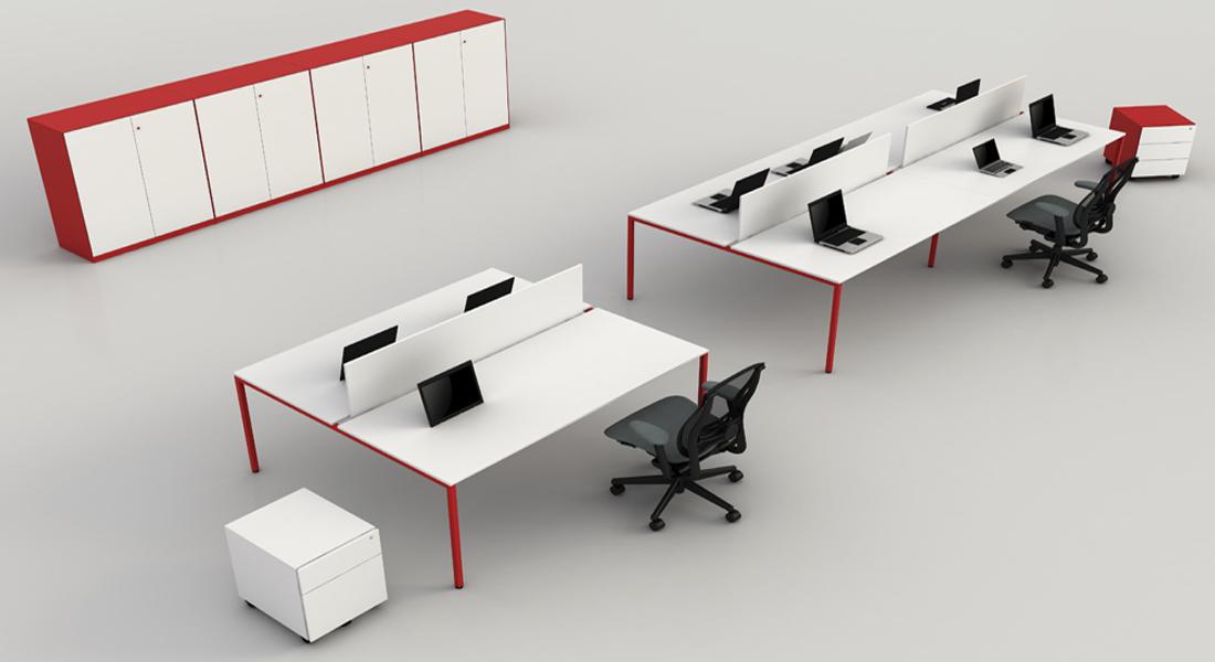 mobiliário de escritório Linha NOA Ilha secretaria_03