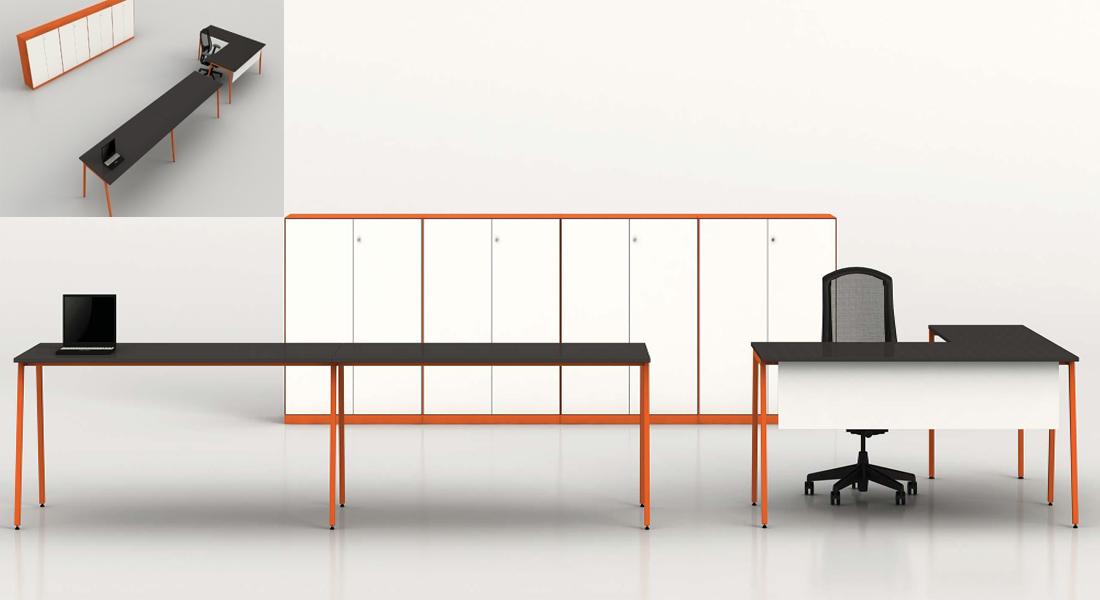 mobiliário de escritório Linha NOA secretária posto trabalho_010