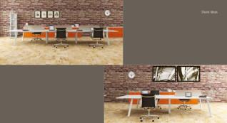 mobiliário de escritório linha Endow ilha 4 postos trabalho_23