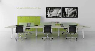 mobiliário de escritório linha Endow ilha 6 postos trabalho_20