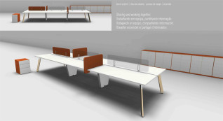 mobiliário de escritório linha Endow ilha posto trabalho_04