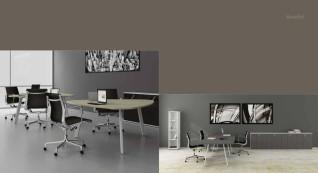 mobiliário de escritório linha Endow mesa gota_17