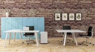 mobiliário de escritório linha Endow mesa quadrada_12