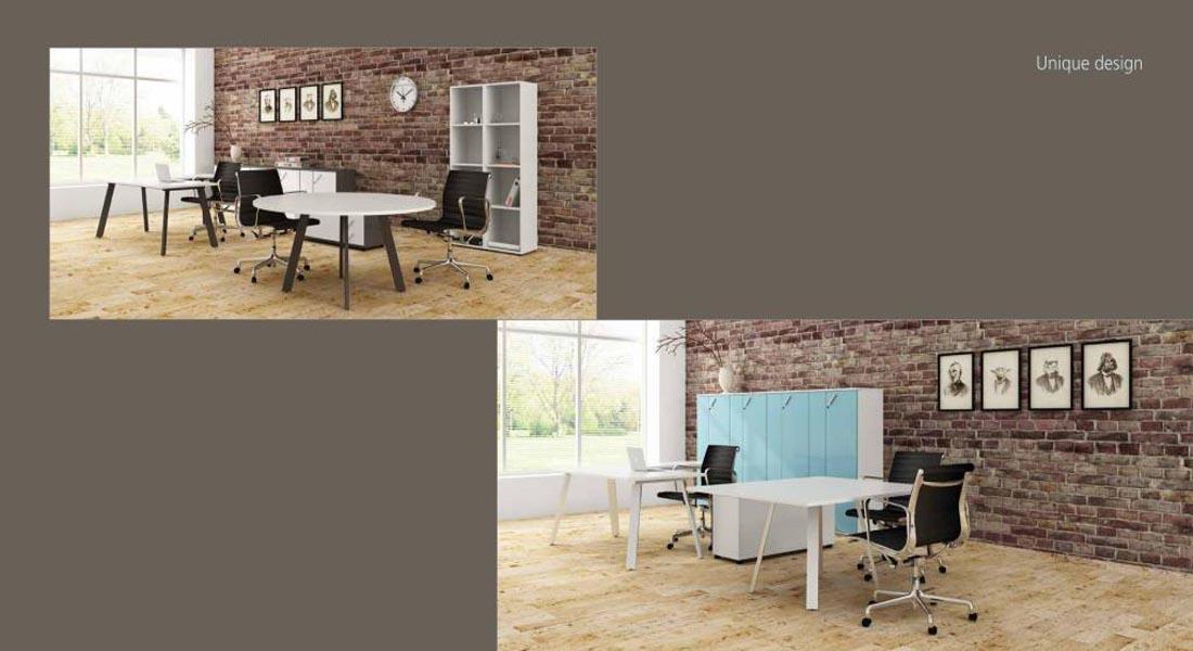 mobiliário de escritório linha Endow mesa quadrada_19
