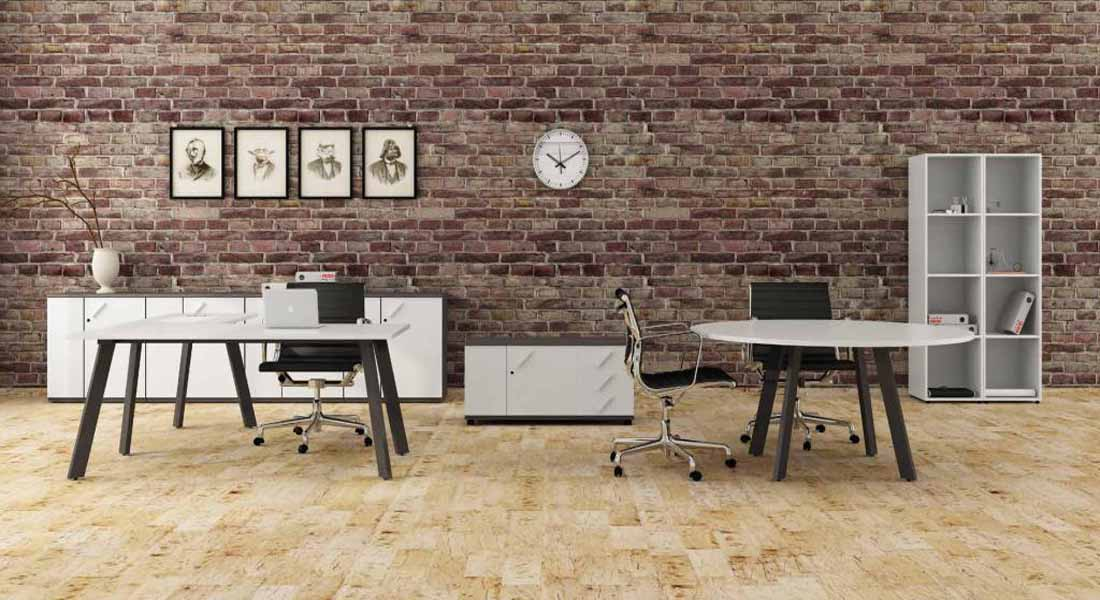 mobiliário de escritório linha Endow mesa redonda_18