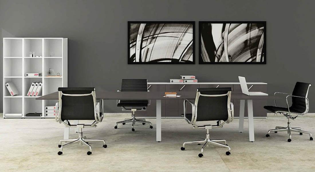 mobiliário de escritório linha Endow mesa reunião reta_24