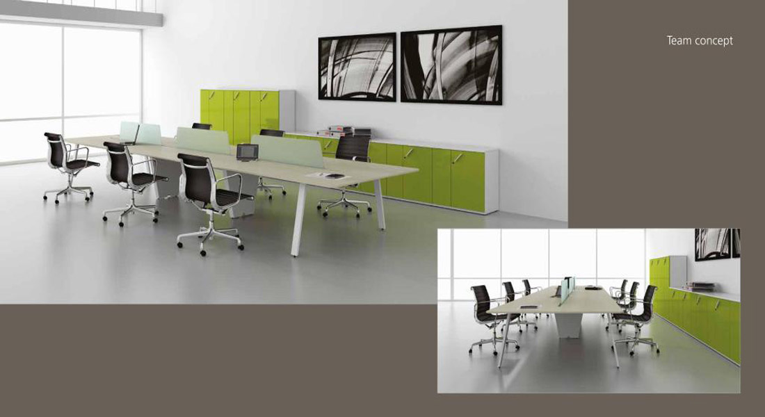mobiliário de escritório linha Endow postos trabalho 6 lugares_21