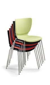 """Cadeira Nomo, estrutura em cromado ou pintada a epoxy cinza, casco em PP., Cores disponíveis para o casco: preto, antracite, verde """"piscachio"""", azul, vermelho, branco e preto BNO.200"""