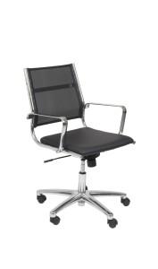 Cadeira Onix costa Média em rede, assento com estofo em Atlantis, mecanismo oscilante com possibilidade de bloqueio em duas posições, base em alumínio BOX.501