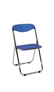 Cadeira Sabre, assento e costa em PP, estrutura rebatível em cromado.