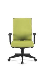 Cadeira Sirius, costa média, mecanismo sincronizado com possibilidade de bloqueio em cinco posições, com regulação da costa em altura BSI.500