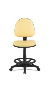 Cadeira Star, costa baixa, mecanismo de contacto permanente, amortecedor alto com apoio de pés em nylon BST.300