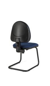 Cadeira Star, costa baixa, estrutura de patim em ferro pintado BST.400