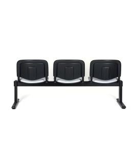 Viga Tok 200 2 lugares, assento e costa com estofo, estrutura pintada a preto. Opção: Mesa de apoio (+€) Viga Tok 200 3 lugares, Viga Tok 200 4 lugares, Viga Tok 200 5 lugares