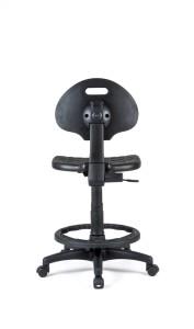 Cadeira Tulip, costa e assento em poliuretano, contacto permanente, sistema de elevação simples.
