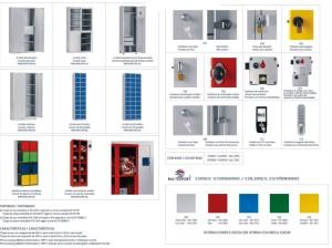 Vestiário metálico cacifos e vários tipos de fechadura