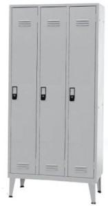 Armário Vestiario Cacifos - Vestiário Triplo 1700x900x500mm 3 Cacifos