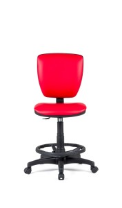 Cadeira Vip, costa baixa, mecanismo de contacto permanente, amortecedor alto com apoio de pés em nylon.