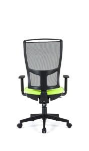 Cadeira Zoen, costa alta em rede, assento com estofo, mecanismo sincronizado com possibilidade de bloqueio em cinco posições, com regulação da costa em altura BZO.501